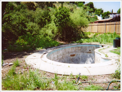 Buried Pool House Before Pool 1