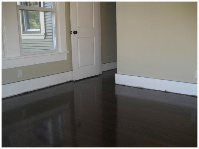 Dark Hardwood Floors And Paint